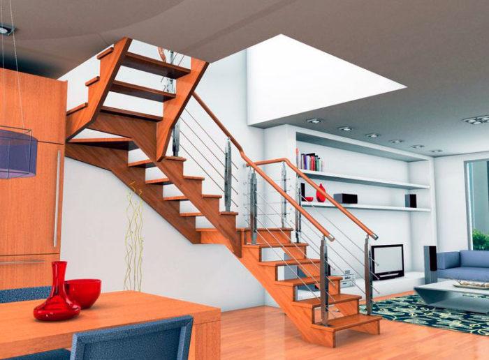 Escalera de madera 0 garma milenium for Muebles megapark