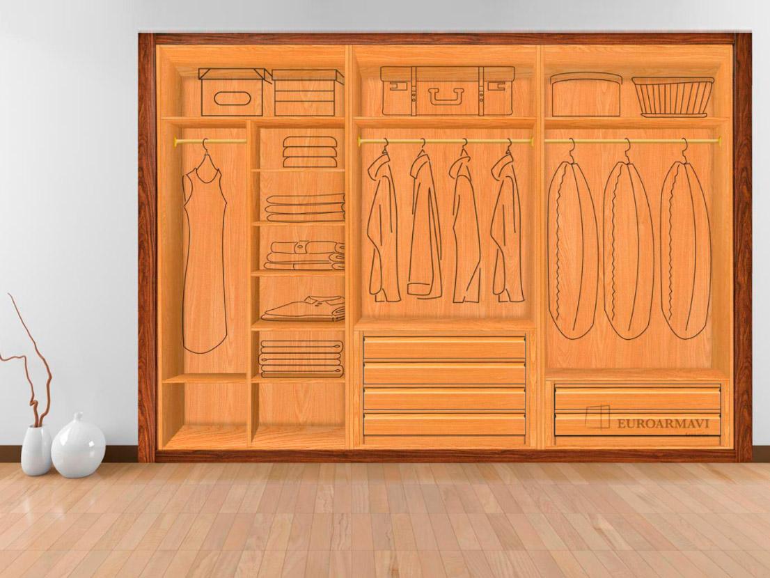 Interior armario 3 módulos
