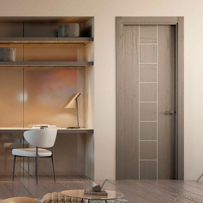 Puerta de interior lisa k09 garma milenium for Muebles megapark