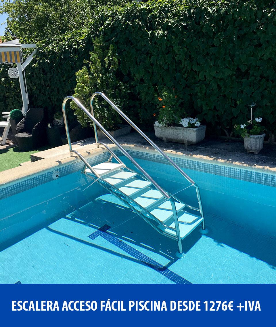 Escalera de acceso fácil para piscina